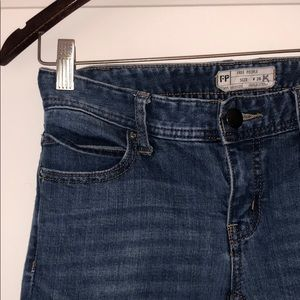 Free People Distressed Ankle Length Jean